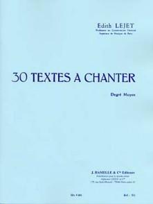 LEJET E. TEXTES A CHANTER