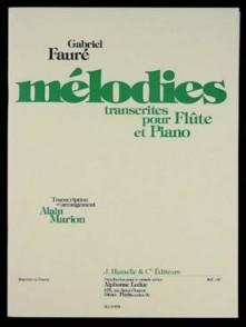 FAURE G. MELODIES FLUTE
