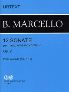 MARCELLO B. 12 SONATES OP 2 VOL 2 FLUTE A BEC
