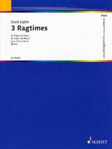 JOPLIN S. 3 RAGTIMES FLUTE