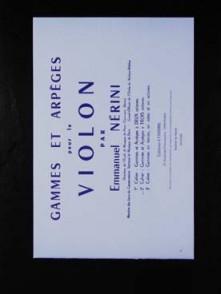 NERINI E. GAMMES ET ARPEGES VOL 2 VIOLON