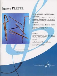 PLEYEL I. SYMPHONIE CONCERTANTE N°3 OP 57  FLUTES