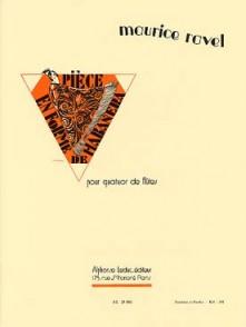 RAVEL M. PIECE EN FORME DE HABANERA FLUTES