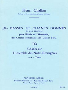 CHALLAN H. 380 BASSES ET CHANTS DONNES VOL 10A