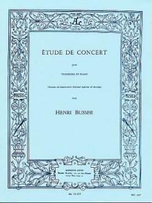 BUSSER H. ETUDE DE CONCERT TROMBONE