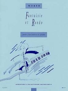 WEBER C.M. FANTAISIE ET RONDO CLARINETTE