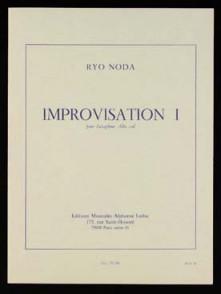 NODA R. IMPROVISATION 1 SAXO ALTO