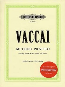 VACCAI N. METHODE PRATIQUE DE CHANT VOIX ELEVEE