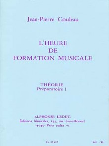 COULEAU J.P. HEURE DE FORMATION MUSICALE P1 THEORIE