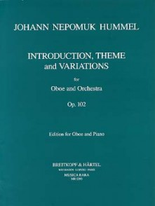 HUMMEL J.N. INTRODUCTION THEME VARIATIONS OP 102 HAUTBOIS