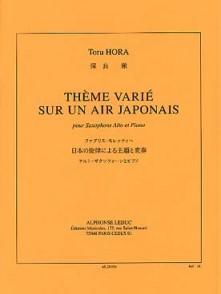 HORA T. THEME VARIE SUR UN AIR JAPONAIS SAXO ALTO