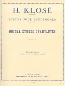 KLOSE H. ETUDES CHANTANTES SAXO