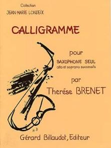 BRENET T. CALLIGRAMME SAXOPHONE SEUL