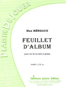 MEREAUX M. FEUILLET D'ALBUM COR