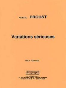 PROUST P. VARIATIONS SERIEUSES FLUTE SOLO