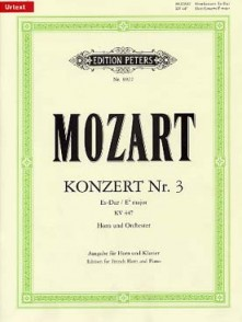MOZART W.A. CONCERTO N°3 K 447 COR