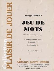 OPRANDI P. JEU DE MOTS COR OU SAXHORN ALTO