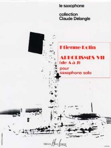 ROLIN E. APHORISMES VII (DE A J) SAXOPHONE SOLO