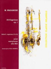 PAGANINI N. 24 CAPRICES OP 1 VOL 2 SAXO SOLO