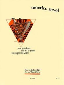 RAVEL M. PIECE FORME HABANERA SAXO MIB
