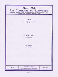 BACH J.S. 6ME SONATE SAXO MIB