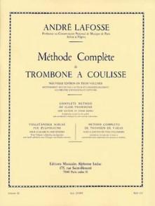 LAFOSSE A. METHODE COMPLETE DE TROMBONE A COULISSE VOL 3