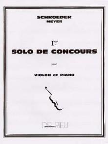 SCHROEDER-MEYER H. SOLO DE CONCERTO N°1 VIOLON