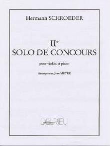 SCHROEDER-MEYER H. SOLO DE CONCOURS N°2 VIOLON