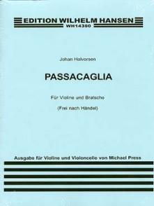 HALVORSEN J. PASSACAGLIA D'APRES HAENDEL VIOLON CELLO
