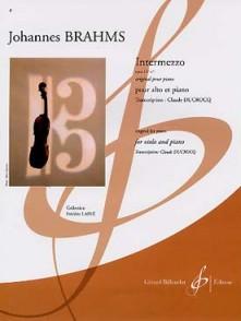 BRAHMS J. INTERMEZZOOP 117 N°1 ALTO