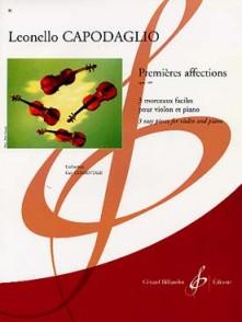 CAPODAGLIO L. PREMIERES AFFECTIONS OP 169 VIOLON