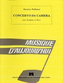 FAILLENOT M.CONCERTO DA CAMERA TROMBONE