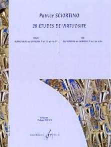 SCIORTINO P. ETUDES DE VIRTUOSITE EUPHONIUM OU SAXHORN