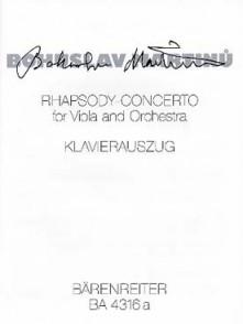 MARTINU B. RHAPSODY-CONCERTO ALTO