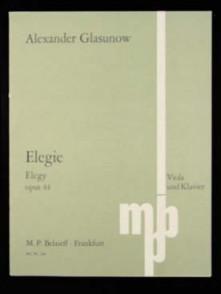 GLAZOUNOV A. ELEGIE OP 44 ALTO