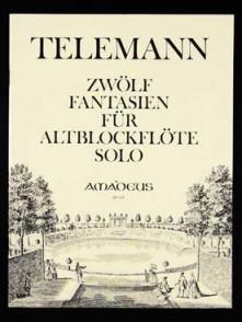 TELEMANN G.P.12 FANTAISIES FLUTE ALTO
