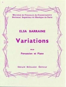 BARRAINE E. VARIATIONS PERCUSSION