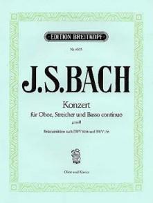 BACH J.S. CONCERTO SOL MINEUR HAUTBOIS