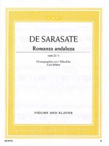 SARASATE P. ROMANCE ANDALOUSE OP 22/1 VIOLON