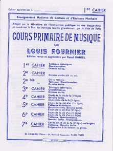 FOURNIER L. COURS PRIMAIRE DE MUSIQUE VOL 1