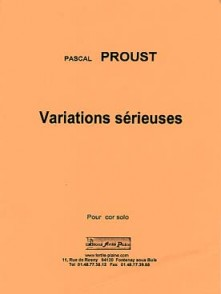 PROUST P. VARIATIONS SERIEUSES COR