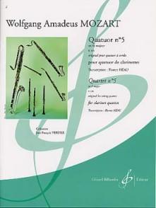 MOZART W.A. QUATUOR N°5 KV 158 CLARINETTES