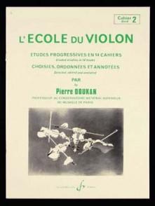 DOUKAN P. ECOLE DU VIOLON ETUDES PROGRESSIVES VOL 2