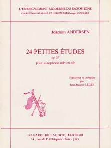 ANDERSEN J. 24 PETITES ETUDES OP 33 SAXOPHONE