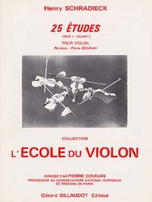 SCHRADIECK H. 25 ETUDES OPUS 1 VOL 2 VIOLON