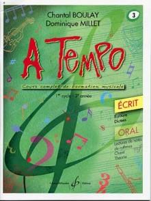 BOULAY C./MILLET D. A TEMPO VOL 3 ECRIT