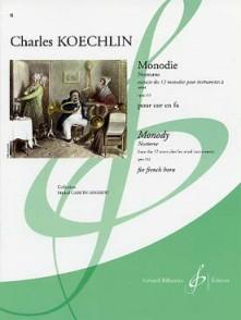 KOECHLIN C. MONODIE COR EN FA