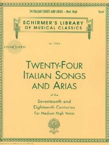 24 ITALIAN SONGS AND ARIAS OF THE 17ME ET 18ME SIECLE VOIX HAUTE
