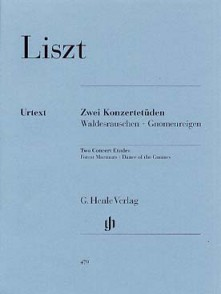 LISZT F. 2 ETUDES DE CONCERT PIANO
