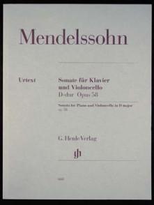 MENDELSSOHN F. SONATE OP 58 VIOLONCELLE PIANO